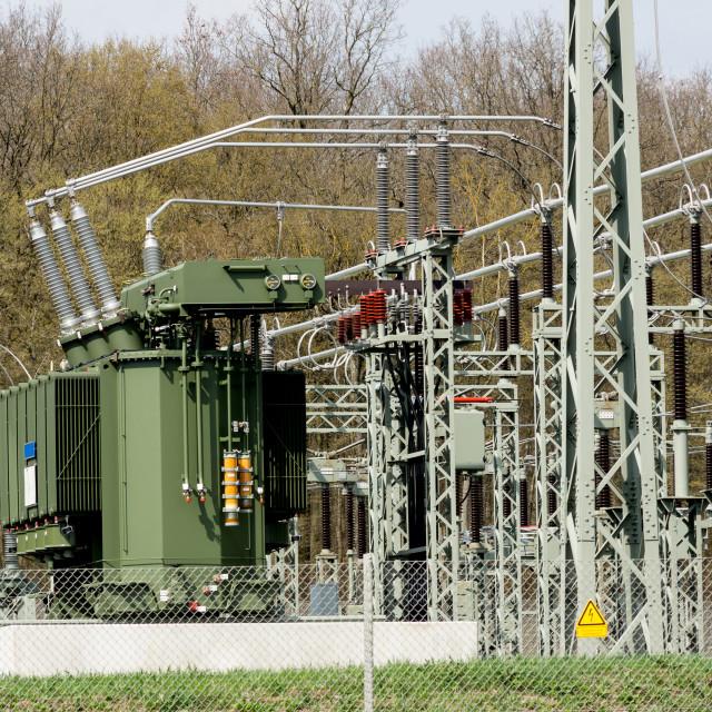 """Transformer station"" stock image"