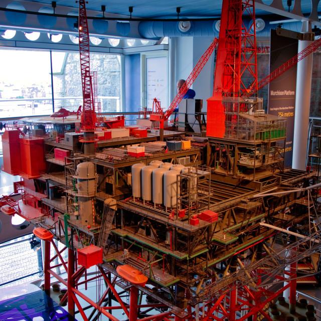 """""""Aberdeen Maritime Museum oil platform"""" stock image"""