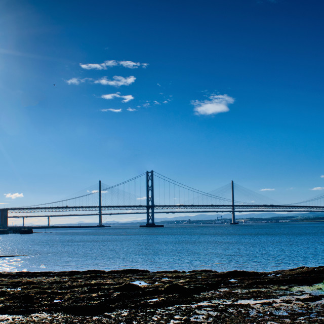 """""""Queensferry Crossing"""" stock image"""