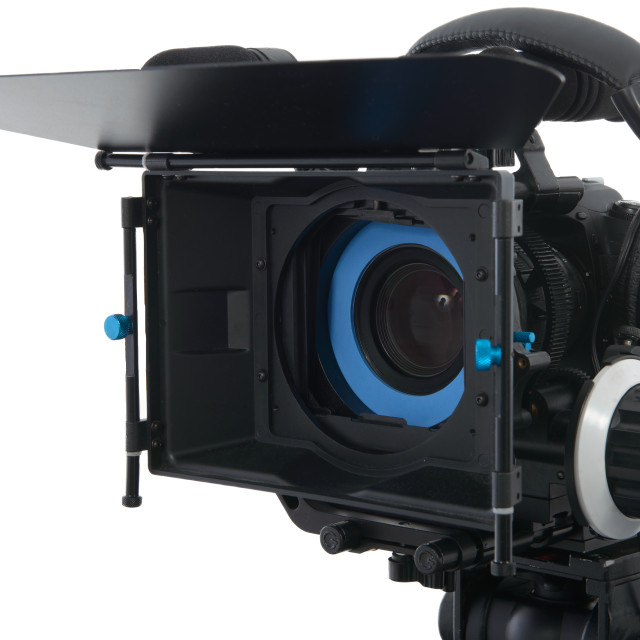 """""""Professional video camera on the white background"""" stock image"""