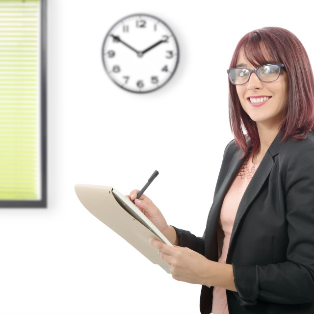 """""""happy young business woman"""" stock image"""