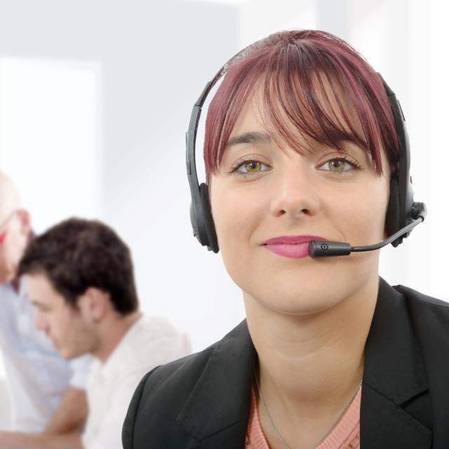 """""""beautiful business customer service woman"""" stock image"""