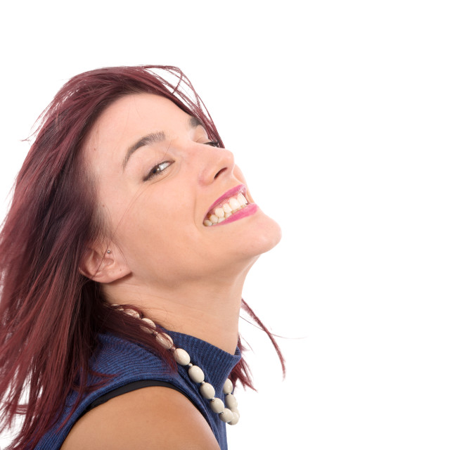 """""""portrait of a pretty young woman fun"""" stock image"""