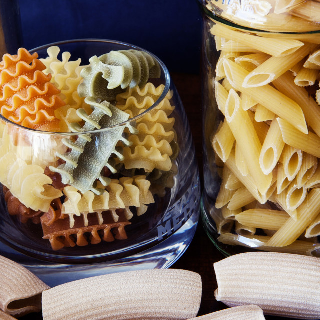 """Italian Pasta in many Shape and Colors"" stock image"