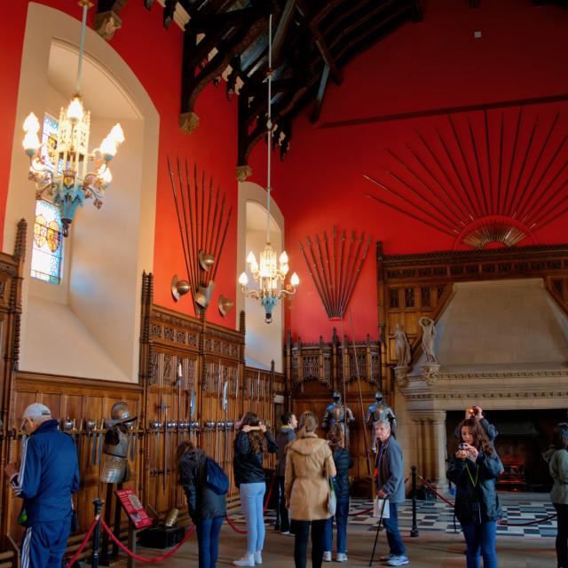 """Great Hall, Edinburgh Castle"" stock image"