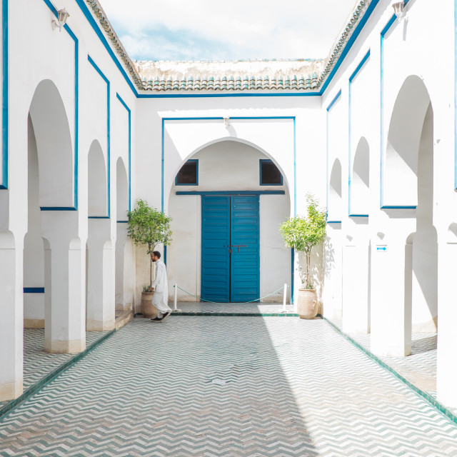 """Courtyard in Bahia Palace"" stock image"