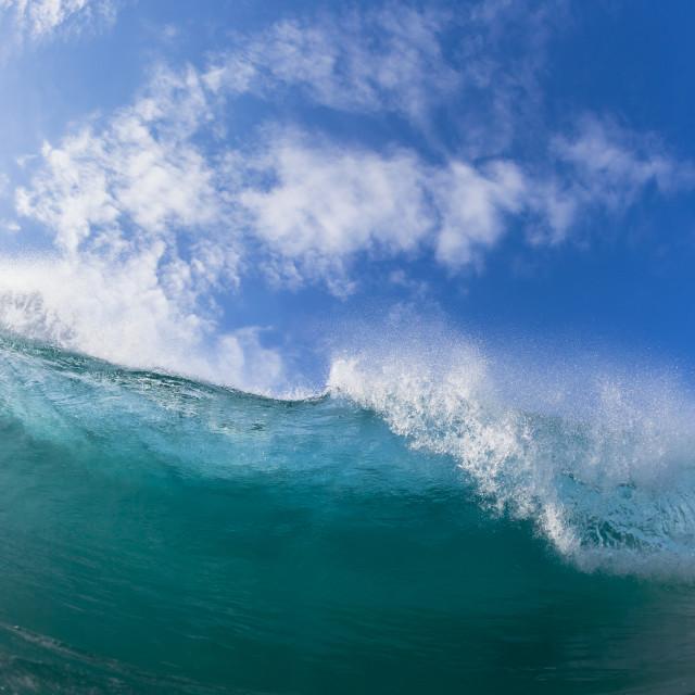 """""""Wave Crashing Blue"""" stock image"""
