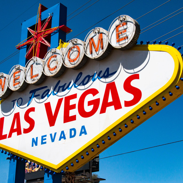 """""""Welcome to fabulous Las Vegas sign, Nevada"""" stock image"""