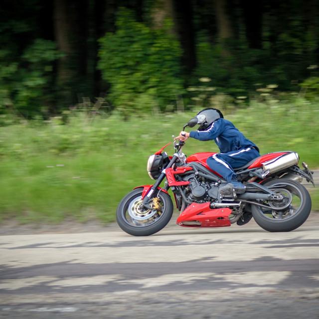 """Motorcyclist"" stock image"