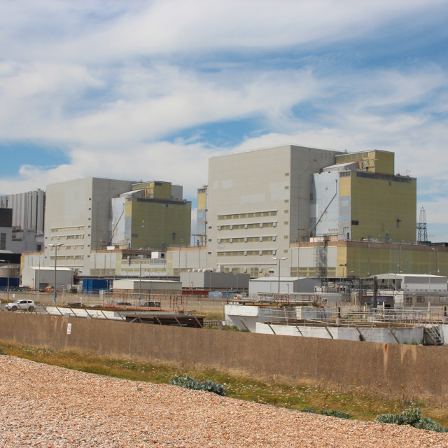 """""""Dungeness Power Station"""" stock image"""
