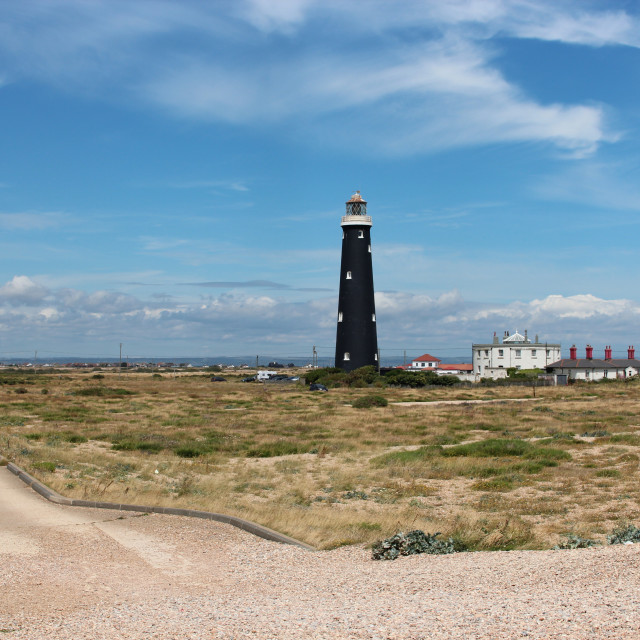 """""""Lighthouse at Dungeness"""" stock image"""