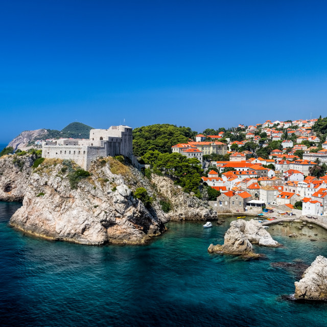 """Coastal Dubrovnik Old Town"" stock image"
