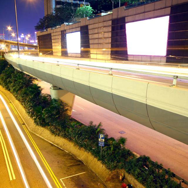 """urban area at night"" stock image"