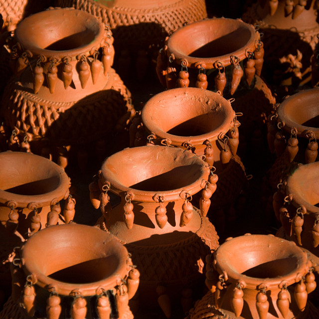"""""""Close-up of Artistic Earthen Wares"""" stock image"""