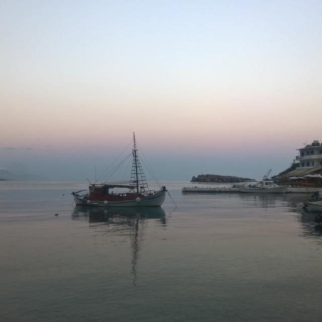 """Greek Island Evening"" stock image"