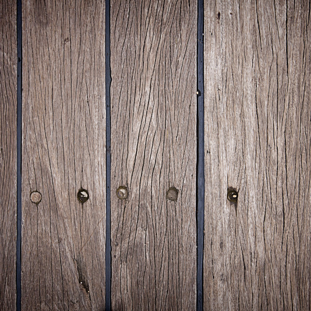 """Old weathered ship deck, wood background"" stock image"