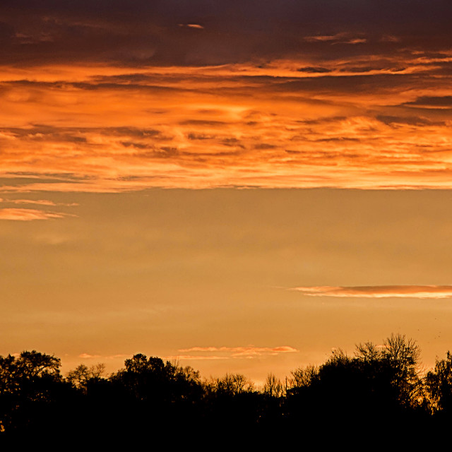 """cloudscape on red sunrise"" stock image"