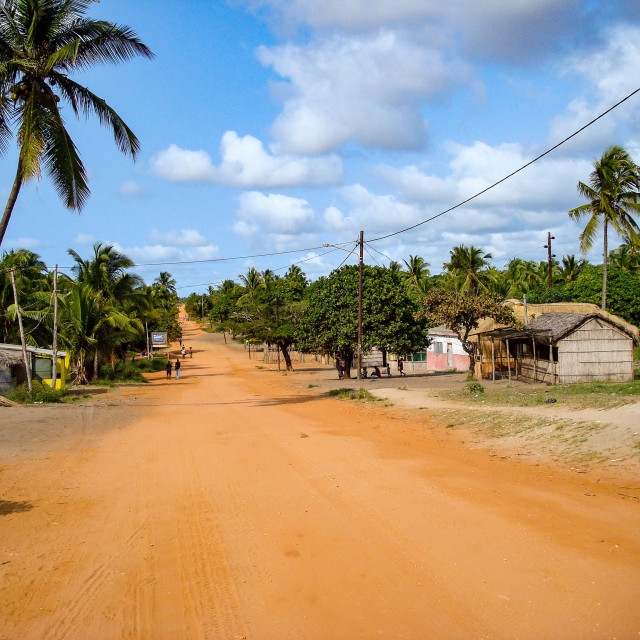 """""""Driving through Mozambique on the way to Vilankulos"""" stock image"""