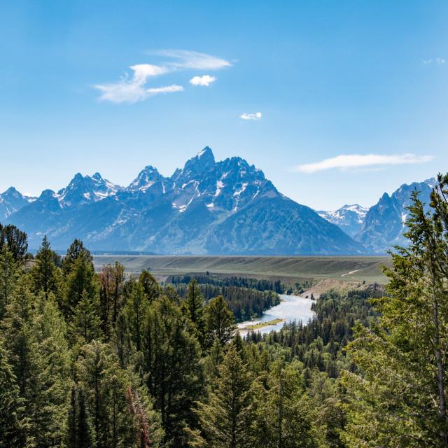 """Grand Teton National Park, Wyoming"" stock image"