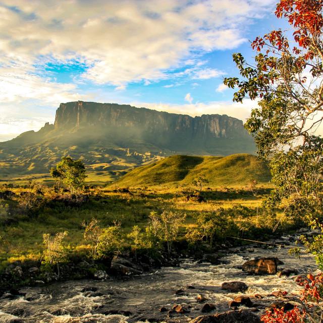 """En route to Mount Roraima, Venezuela"" stock image"