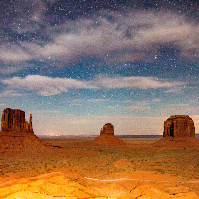 """""""Monument Valley under the stars, United States"""" stock image"""