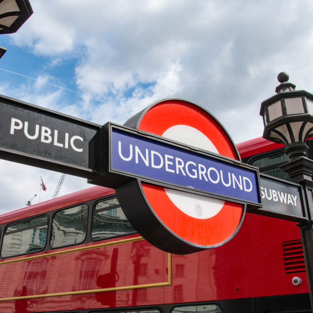 """London Underground at Piccadilly Circus, London"" stock image"