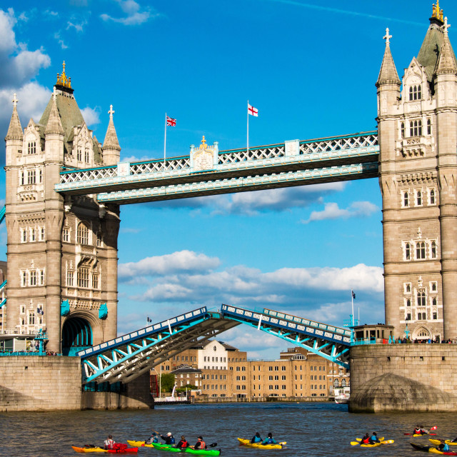 """Tower Bridge in London, United Kingdom"" stock image"