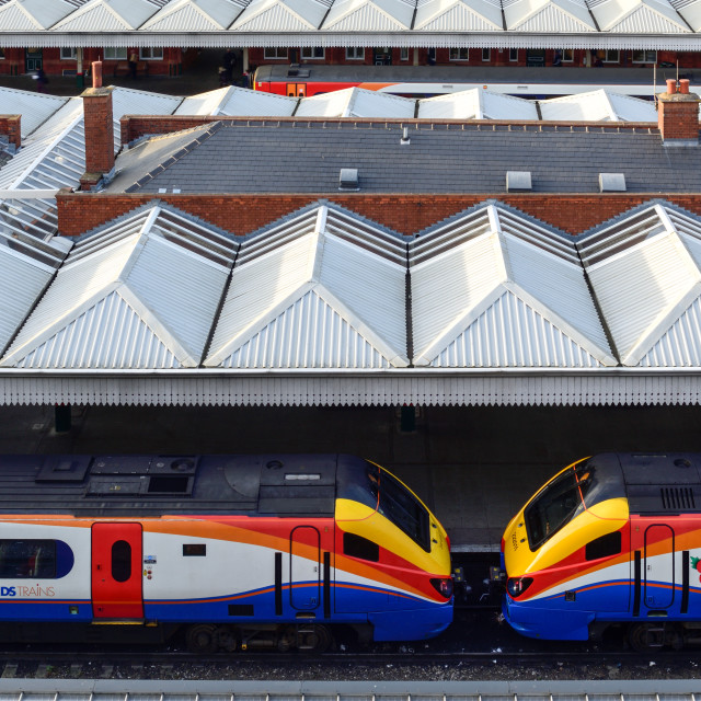 """Nottingham East Midlands Train Station"" stock image"