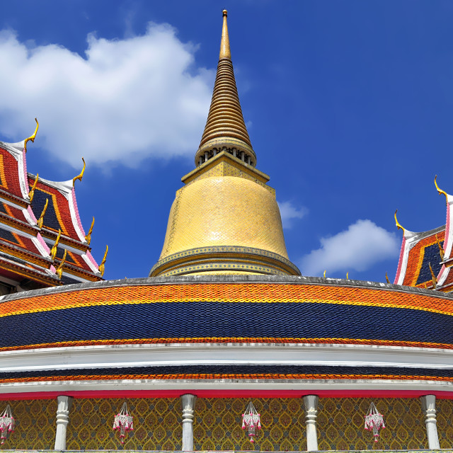 """""""The Chedi at Wat Ratchabopit"""" stock image"""