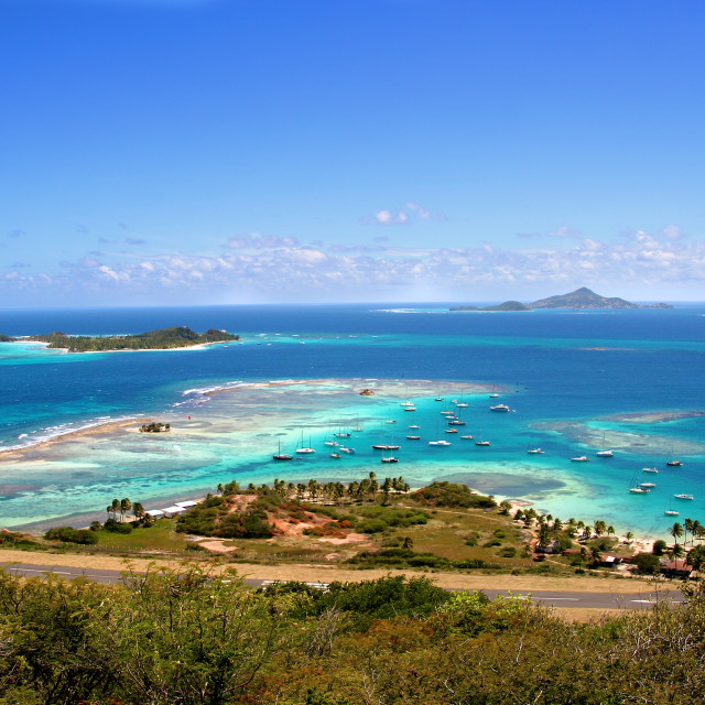 """Caribbean paradise on Union Island, Saint Vincent and the Grenadines"" stock image"