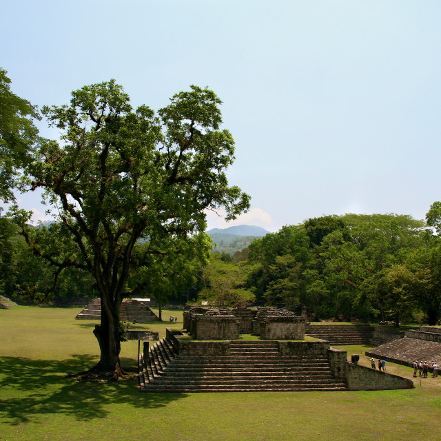 """Copan is an archaeological site of the Maya civilization located in western Honduras"" stock image"