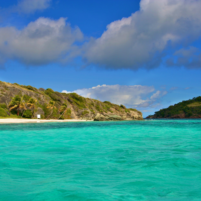 """The Tobago Cays are a group of islands belonging to St. Vincent and the Grenadines in the Caribbean."" stock image"