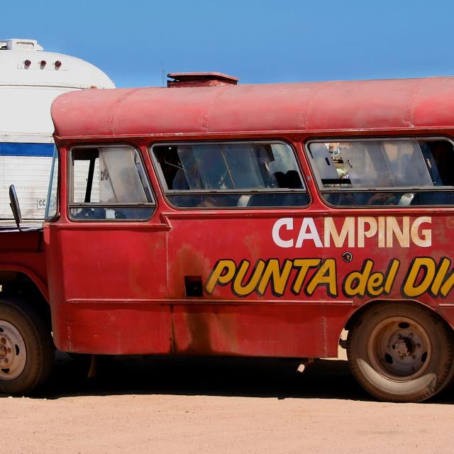 """""""Punta del Diablo, Uruguay"""" stock image"""