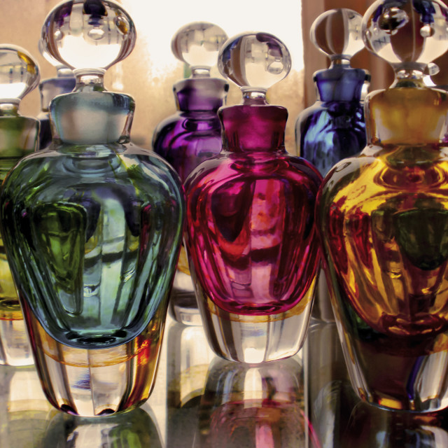 """Coloured Scent Bottles 2"" stock image"