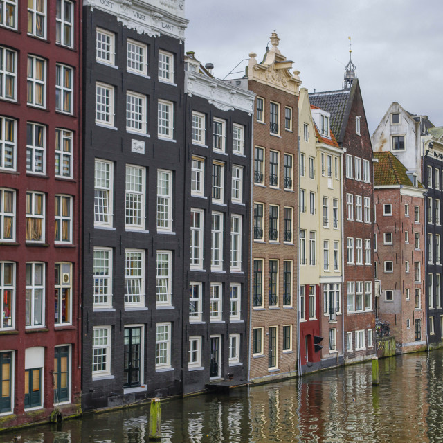 """""""Canal houses in Amsterdam"""" stock image"""
