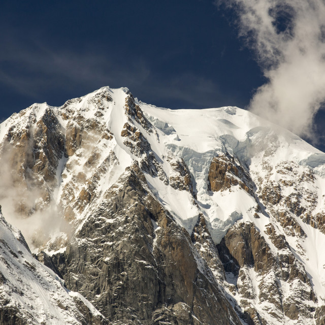 """""""The Dent Du Geant in the Mont Blanc range, Italy."""" stock image"""