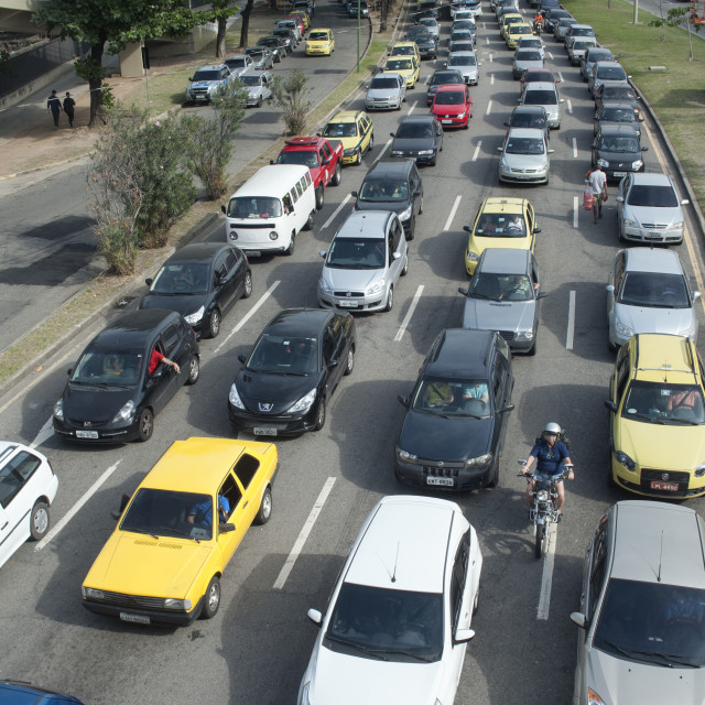 """Rio de Janeiro traffic"" stock image"