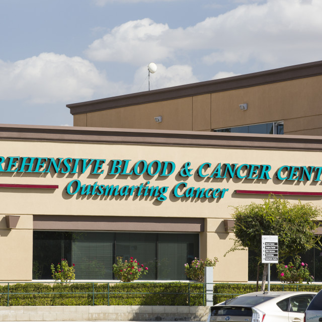 """A cancer centre in Bakersfield, California, USA."" stock image"