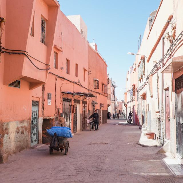"""Marrakech Medina"" stock image"