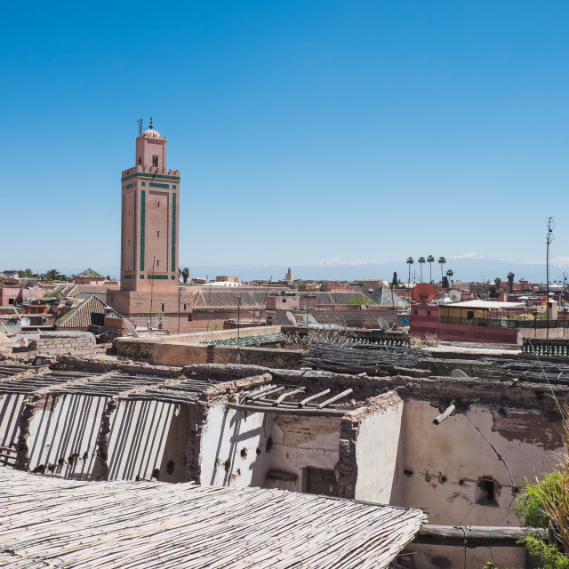 """Marrakech rooftops"" stock image"