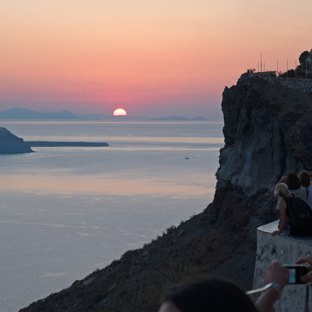 """Sunset on Santorini"" stock image"