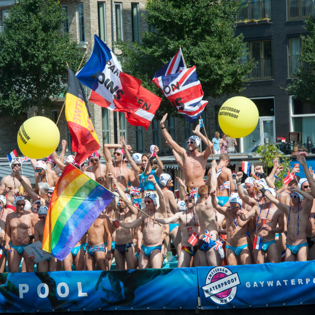 """Gay Pride Amsterdam Canal Parade"" stock image"