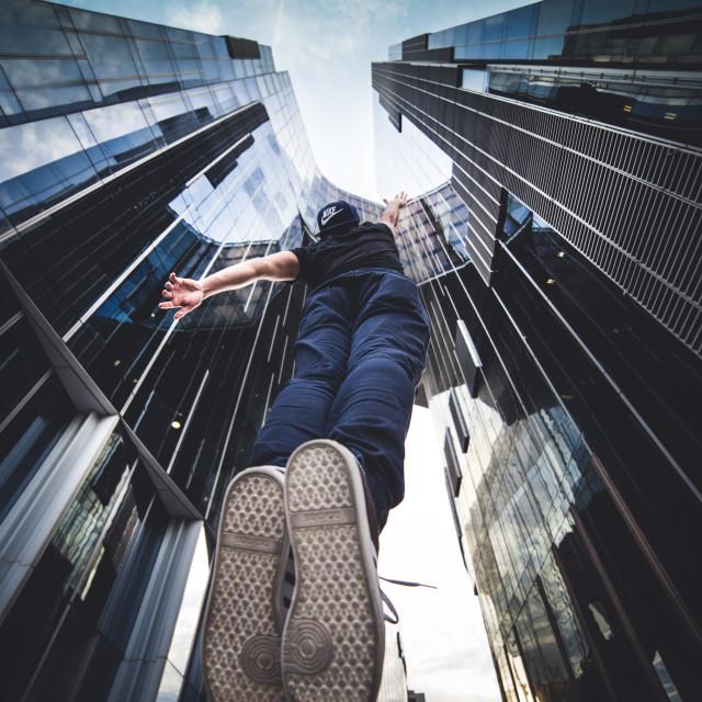 """Falling"" stock image"