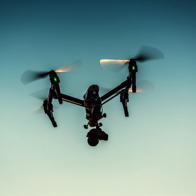 """""""Varna, Bulgaria - July 09,2016: Image of DJI Inspire 1 Pro drone"""" stock image"""