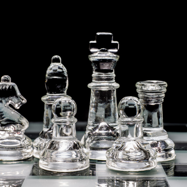 """Glass Chessmen"" stock image"