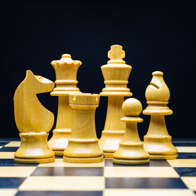 """Wooden Chessmen"" stock image"