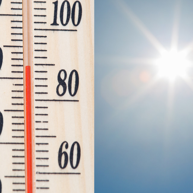 """Temperature Thermometer"" stock image"