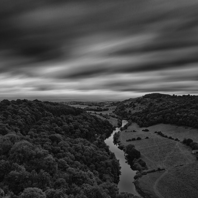 """Forest of Dean with the River Wye"" stock image"