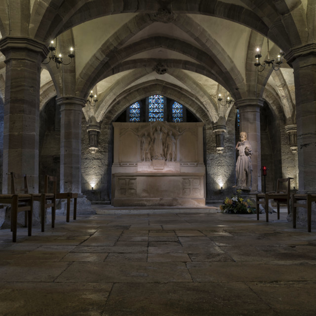 """Hereford Cathedral Crypt"" stock image"