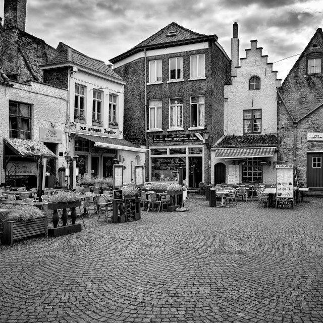 """The Courtyard Bruges Belgium"" stock image"